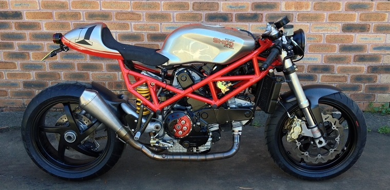 "Ducati ST2 Cafe Racer by Shed-X Customs ""Superleggera"""