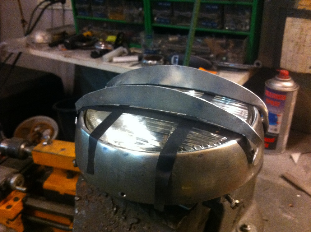 How To Make an Oldskool Cafe Racer Headlight
