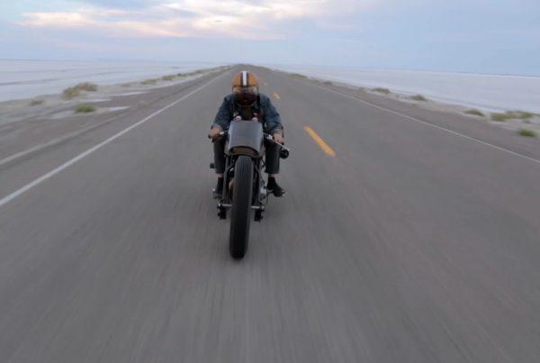 Custom Harley Davidson at Speed Week 2013 with Mike Humeston - MotoMatter