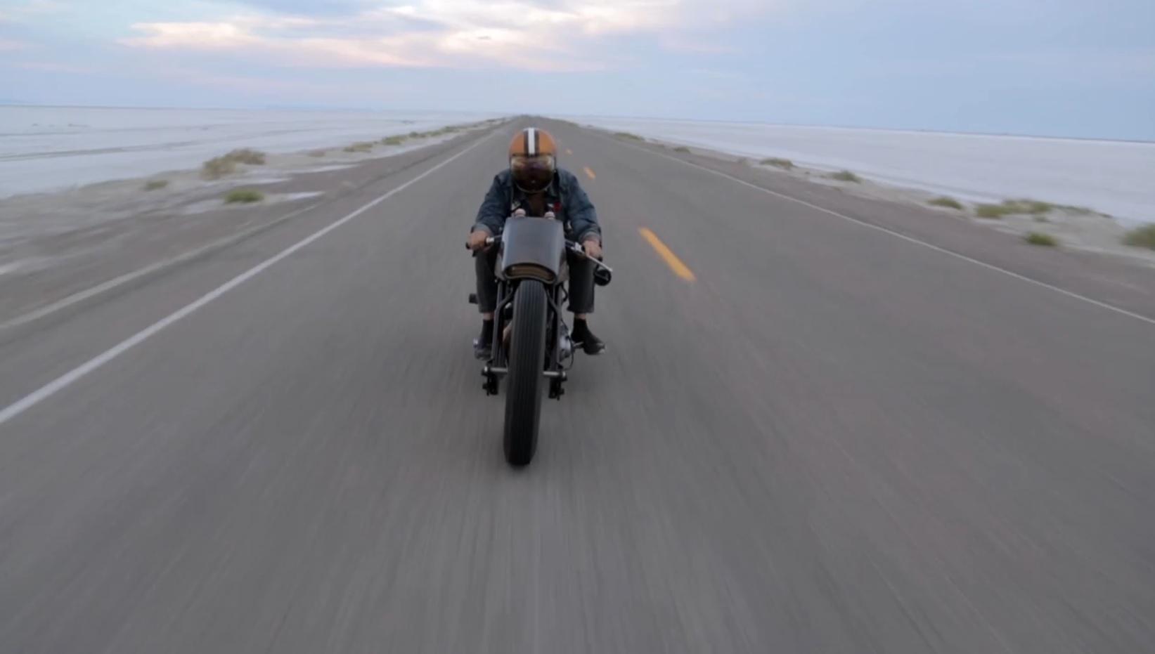 Custom Harley Davidson at Speed Week 2013 with Mike Humeston