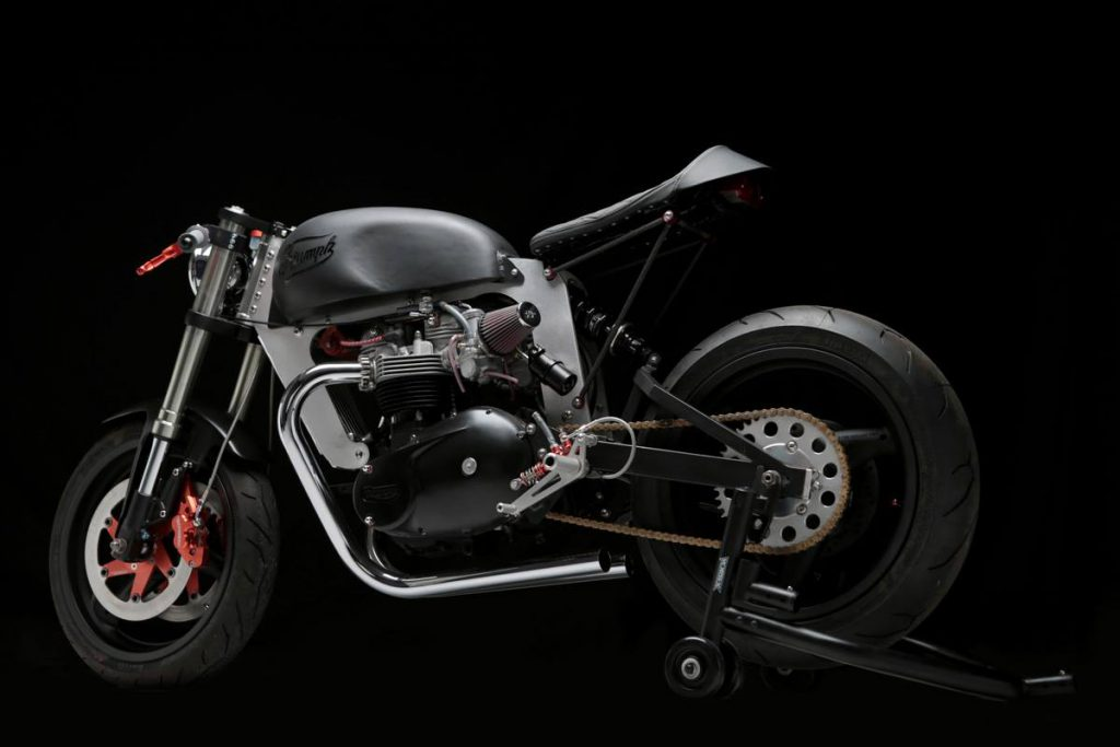 Vintage Triumph Cafe Racer by Loaded Gun Customs
