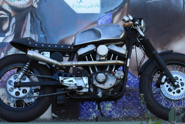 Harley-Davidson-Sportster-Cafe-Racer-by-Sylvain-Barrel-Void - MotoMatter
