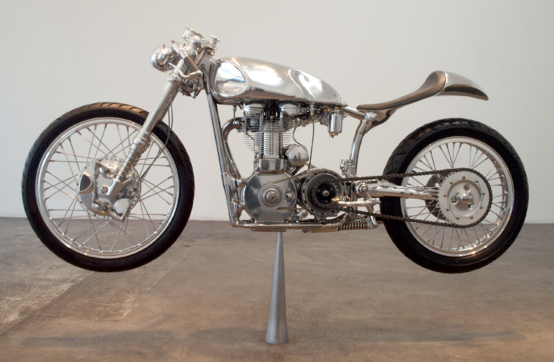 "Velocette Thruxton Cafe Racer ""The White"" by Ian Barry"