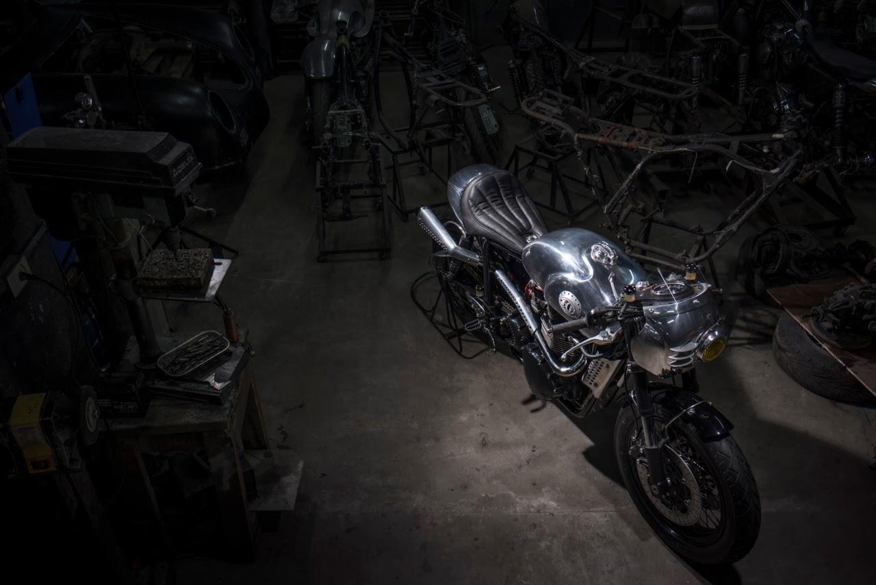 "Triumph Thruxton Cafe Racer ""Steampunk Racer"" by BCR"