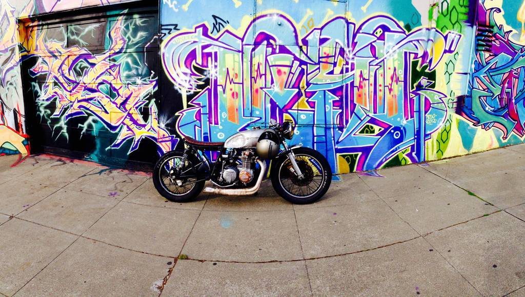 "Honda CB550 Cafe Racer ""Dirty Annie"" by Ezikiel"