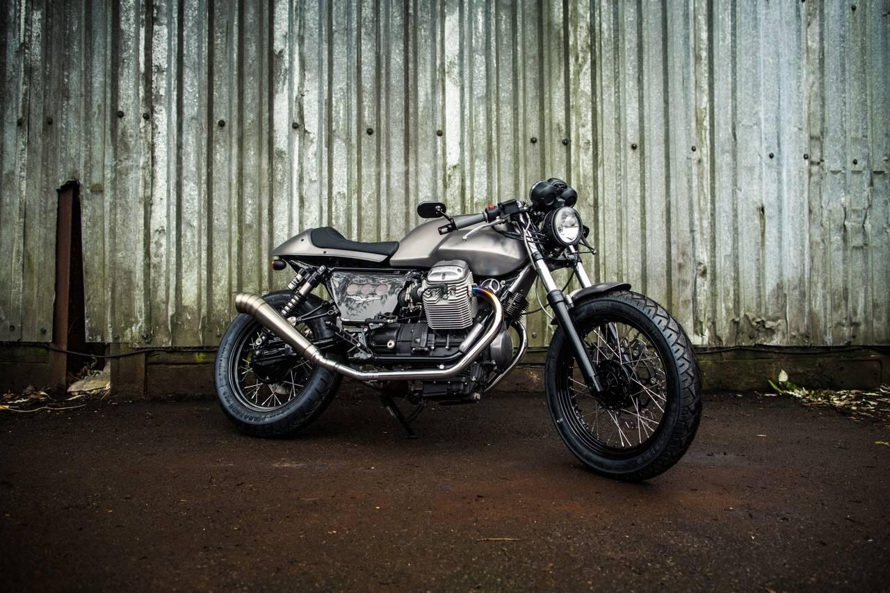 Moto Guzzi V7 Cafe Racer by 2WheelsMiklos - MotoMatter
