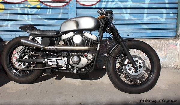Harley Davidson Sportster Cafe Racer by Sylvain Barrel 1