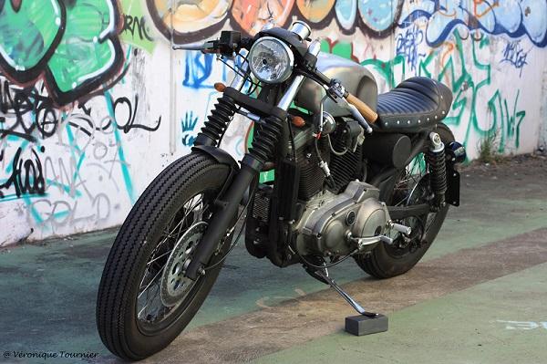 Harley Davidson Sportster Cafe Racer by Sylvain Barrel 3