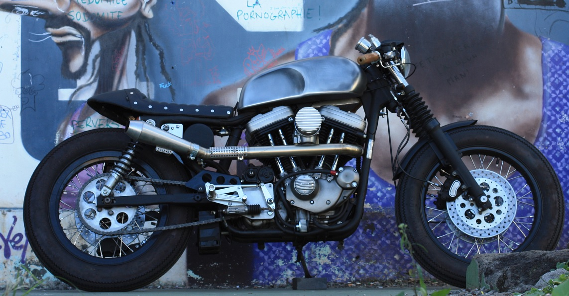 Harley Davidson Sportster Cafe Racer by Sylvain Barrel Void