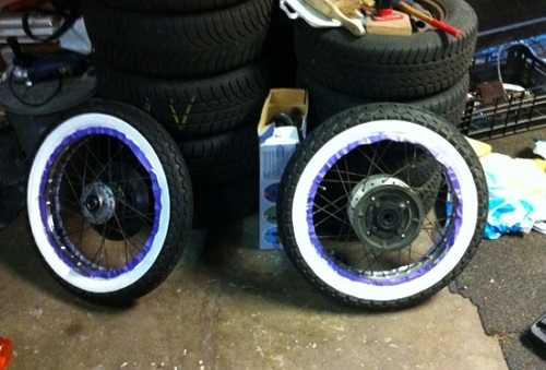 How to make white wall tires 3
